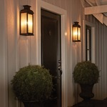 Pediment 2 Light Outdoor Wall Light by Feiss