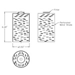 LED Perforated Steel Pendant -  /