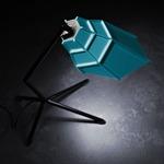 Pett Table Lamp - Black / Light Blue