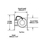 Lytecaster 1004SIC 5 In Shallow Frame-In Kit 120V -  /