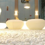 Pill Low Indoor / Outdoor Floor Lamp by Oluce Srl