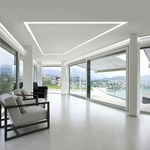 TruLine 1.6A 5W 24VDC Plaster-In LED System - White /