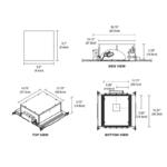 Aurora LED Square Edge 3.3 Inch Invisible Trim/Housing -  /