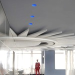 Aurora RGB/LED Round Edge 3.3 Inch Invisible Trim/Housing - Aluminum/ White Dome