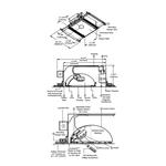 Aurora RGB/Halogen Square 3.3 Inch Invisible Trim/Housing -  /