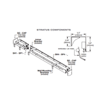 Stratus Wet Location 4200K Linear Wall Grazer -  /