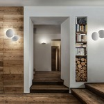 Puzzle Round Double Wall / Ceiling Semi Flush Light by Studio Italia Design