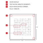 Qlocktwo Wall Clock Special Edition English Version -  /
