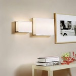 Rex Wall Sconce - Brushed Nickel / White Linen