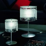 Riflessi Table Lamp - Polished Chrome / Satin Crystal / Clear