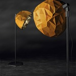 Rock Floor Lamp -  / Gold