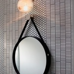 Bubble Round Wall Light with Round Canopy -  /
