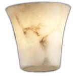 Modular Round Flared Wall Sconce - Brushed Nickel / Faux Alabaster