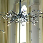 Ruban Plie Oval 6 light Chandelier - Total High Gloss /