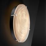 Porcelina Round Clips Flush Mount / Wall Sconce - Brushed Nickel / Waves Porcelain