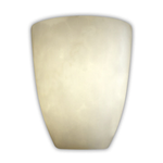 Aero Short Tapered Wall Sconce - Brushed Nickel / Clouds Resin