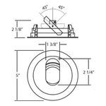 Slot Aperture Round 4 inch Trim -  /