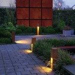 Rusty Slot Exterior Bollard by SLV Lighting