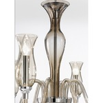 1020 Two Tier Chandelier - Chrome / Smoked