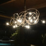 Solder Wrap Chandelier by Lightsculptures
