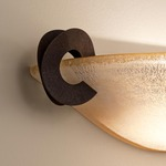 Solune Wall Sconce - Rust / Amber