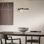 Sphere 11-Light Suspension Warm Color Dimming by LBL Lighting
