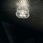 Spring Wall / Ceiling Light - Chrome / Transparent