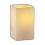 Montana Square Flat Rim Angled Bobeche Wall Sconce - Brushed Nickel / Bamboo