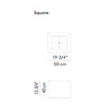 Geisha Square Pendant -  /