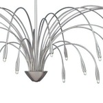 Staccato Chandelier - Satin Nickel /