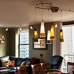 2-Circuit Monorail by Edge Lighting with Fili Pendants by Oggetti