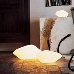 Stone of Glass Table Lamp by Oluce Srl