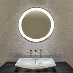 Tigris Round Recessed Mirror by Tech Lighting