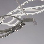 Surge LED Linear Suspension - Satin Nickel /