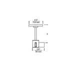 T-Trak 4 Inch Round Power Feed Canopy with L Connector -  /