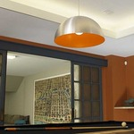 Powell Street T-Trak 1-Circuit Pendant - Satin Nickel / Satin Nickel / Orange