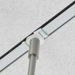 T-Trak T-Bar Connector - Satin Nickel / White