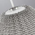 Meeka Pendant - Satin Nickel / White