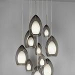11 Port Line/Low Voltage Round Wood Canopy - Walnut/ Antique Bronze /