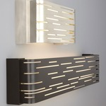 Revel Linear Wall Light - Gloss White / Maple Wood Trim