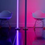 Tono Floor Mood Light - Aluminum / White
