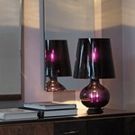 Fontana Total Black Table Lamp by Fontana Arte