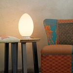 Uovo Table Lamp - White / White Glass