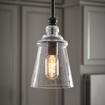 Urban Renewal 1261 Pendant - Oil Rubbed Bronze / Clear Seeded