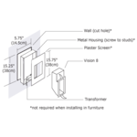 Vision 8 Wall Recessed -  /