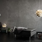 Silvia Hardwired Pendant - White / Polished Steel