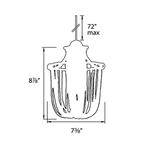 QP Cascade Jewelry LED Pendant -  /