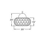 QP Gem Cosmopolitan LED Pendant -  /