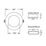 Round Low Voltage Button Light -  /