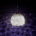 QP Roxy Cosmopolitan LED Pendant - Chrome / Clear